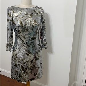 NWT Vince Camuto sequin  floral sheath dress